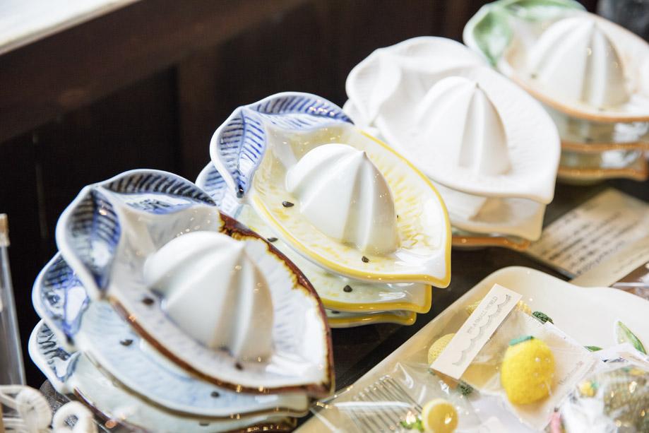 山﨑さん自らデザインしたレモン絞り器